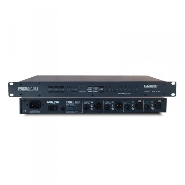FBX2420專業防嘯叫反饋抑制器會議舞台演出雙通道移頻處理器廠家